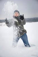 Beate im Schnee