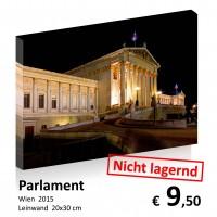 Wien bei Nacht Leinwand 20x30 16