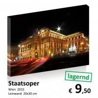 Wien bei Nacht Leinwand 20x30 23